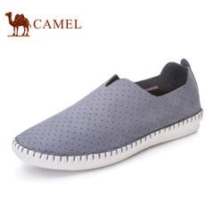 CAMEL骆驼情侣鞋 2017春季新款透气休闲鞋男鞋手工缝制轻质女单鞋