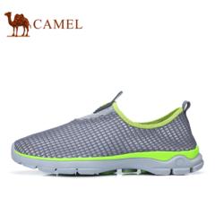 Camel骆驼户外徒步鞋 男女鞋透气速干网鞋舒适情侣低帮户外休闲鞋