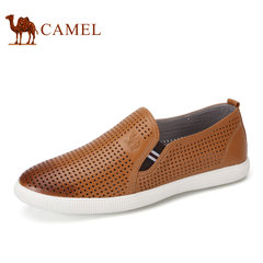 Camel/骆驼男鞋2017夏季新品低帮日常休闲真皮透气乐福鞋男士皮鞋