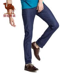 骆驼男装 2017春季新款时尚商务休闲长裤子男士中腰薄款牛仔裤男
