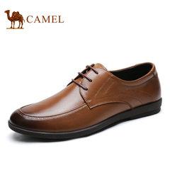 Camel/骆驼男鞋春季男士皮鞋牛皮商务休闲鞋男青年皮鞋潮