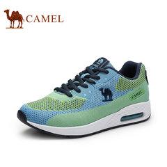 骆驼女鞋 春季新款透气系带坡跟单鞋 女士时尚户外鞋运动休闲鞋