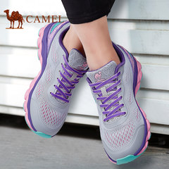 CAMEL駱駝情侶鞋 2017春夏超輕跑步鞋女鞋透氣網面減震運動男鞋