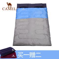 【2017新品】骆驼户外双人睡袋 耐潮防寒保暖便携睡袋露营野营