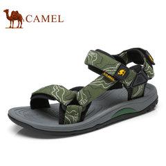骆驼户外凉鞋情侣款沙滩鞋男女防滑防水平底鞋魔术贴舒适休闲凉鞋