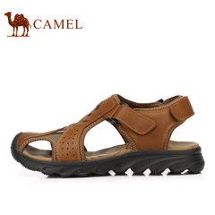 Camel/骆驼男鞋2017夏季新品户外休闲凉鞋透气舒适包头魔术贴凉鞋