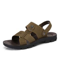 Camel/骆驼男鞋 2017夏季新款日常休闲男凉鞋纯色清凉舒适男鞋