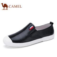 Camel/骆驼男鞋2017夏季新品日常休闲皮鞋时尚轻盈柔软休闲乐福鞋