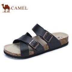 Camel/骆驼 男鞋2017夏季新品时尚休闲一字拖鞋日常休闲男拖鞋