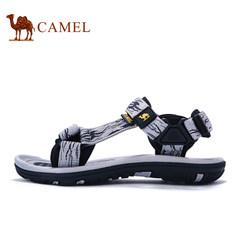 Camel/骆驼户外凉鞋 男女2017夏季舒适魔术贴防滑弹力时尚沙滩鞋