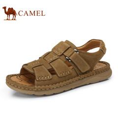 Camel骆驼男鞋  2017春夏新款清凉舒适户外休闲百搭磨砂牛皮凉鞋