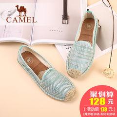 骆驼女鞋 2017新款老北京布鞋舒适帆布鞋软底单鞋渔夫鞋女平底