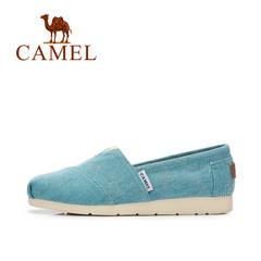 【2017新款】骆驼春夏韩版学院风时尚帆布鞋 时尚休闲单鞋女
