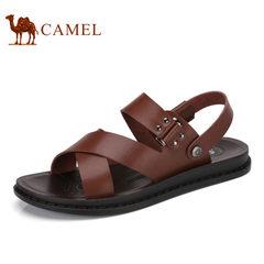 Camel/骆驼男鞋2017夏季新品日常休闲男鞋凉鞋露趾沙滩凉鞋男