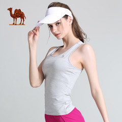 骆驼运动背心 2017新品女款运动背心瑜伽健身跑步运动休闲背心