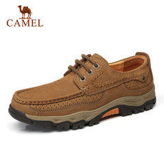 【2017新品】Camel/骆驼户外休闲男鞋 真皮耐磨鞋子男士休闲皮鞋
