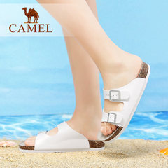 Camel/骆驼女鞋2017夏季新款懒人凉拖鞋舒适平跟拖鞋女夏时尚外穿