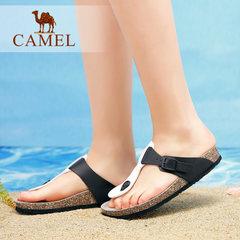 Camel/骆驼女鞋 2017夏季新款 休闲舒适人字拖夹脚凉拖鞋女