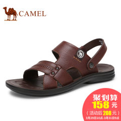 CAMEL骆驼男鞋 2017夏季新品透气露趾男凉鞋凉拖两穿休闲鞋沙滩鞋