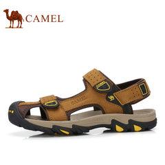 【断码清仓】Camel/骆驼户外凉鞋男鞋真皮包头魔术贴耐磨沙滩鞋男