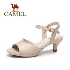 Camel/骆驼女鞋 2017夏季新款 欧美时尚女士凉鞋 舒适优雅高跟鞋