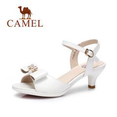 Camel/骆驼女鞋 2017夏季新款 优雅时尚女士细跟凉鞋 高跟鞋女