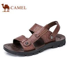 Camel/骆驼男鞋2017夏季新品日常休闲凉鞋清爽透气露趾男士凉鞋