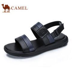 Camel/骆驼男鞋2017夏季新品舒适时尚休闲凉鞋魔术贴露趾沙滩拖鞋