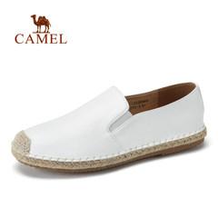 【2017新品】CAMEL骆驼春季透气渔夫鞋平底鞋手工草编套脚单鞋男