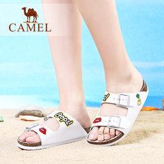 Camel/骆驼女鞋 2017夏季新款女士凉拖鞋沙滩鞋日常休闲拖鞋