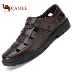 Camel/骆驼男鞋2017秋季真皮凉鞋男士舒适休闲商务凉鞋透气皮鞋