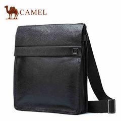 camel 骆驼男包 牛皮男士休闲包单肩包斜挎包男潮包 竖款方形男包