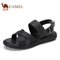 Camel/骆驼男鞋2017夏季新品男凉鞋休闲男士凉鞋男真皮软底沙滩鞋