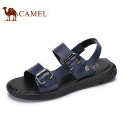 Camel/骆驼男鞋2017夏季新品凉鞋男舒适时尚休闲清凉露趾沙滩鞋