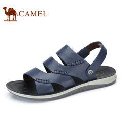 Camel/骆驼男鞋2017夏季新品牛皮凉鞋休闲清爽透气两用转换凉鞋