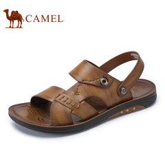 Camel/骆驼男鞋2017夏季新品男士透气沙滩鞋日常休闲露趾凉鞋凉拖