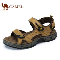 Camel/骆驼凉鞋男2017夏季新款男士凉鞋真皮牛皮户外休闲沙滩鞋男