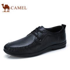 Camel/骆驼男鞋2017夏季新品透气舒适商务休闲鞋柔软牛皮鞋男
