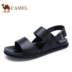 Camel/骆驼男鞋2017夏季新品凉鞋沙滩鞋子男士透气露趾休闲凉鞋男