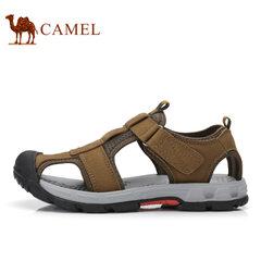 【清仓特价】Camel/骆驼 男鞋户外休闲凉鞋透气沙滩鞋户外皮凉鞋