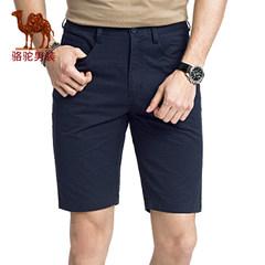 骆驼男装 夏季新款无弹中腰修身休闲男青年五分裤休闲短裤