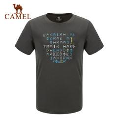 【2017新品】骆驼户外T恤 夏季男款功能圆领上衣短袖速干T恤
