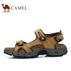 Camel/骆驼男凉鞋夏季牛皮鞋子男户外休闲沙滩鞋男士凉鞋