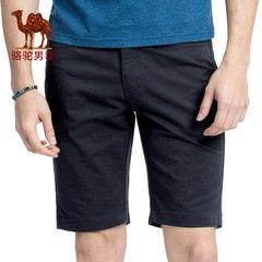 骆驼男装 夏季新款中腰微弹修身休闲纯色男青年五分裤短裤