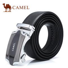 Camel/骆驼 男士牛皮皮带 时尚休闲合金自动扣男腰带