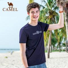 Camel骆驼户外 2017夏季新品时尚印花青年圆领日常休闲短袖T恤衫