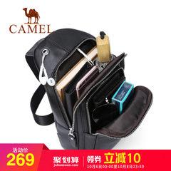 骆驼男包  男士胸包时尚青年易搭牛皮包包单肩斜挎背包旅行包户外
