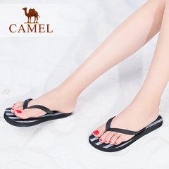 Camel/骆驼女拖鞋 2017夏季新款日常休闲条纹人字拖轻便沙滩女鞋