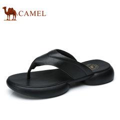 Camel/骆驼男鞋2017夏季新品日常休闲舒适厚底夹趾休闲拖鞋男
