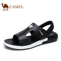 Camel/骆驼男鞋2017夏季新品时尚休闲百搭沙滩凉鞋厚底休闲凉鞋男